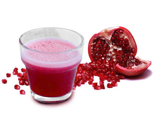 Frozen Cloudy Pomegranate Juice